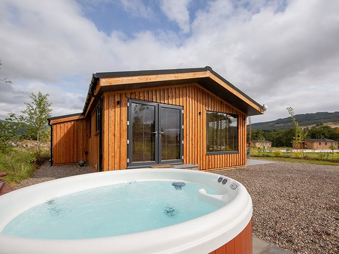 Holiday lodges on the edge of famous Mains of Taymouth